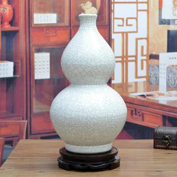 傲世瓷业景德镇陶瓷器古典裂纹瓷花瓶工艺品摆件装饰品哑光裂纹釉六款可选H019