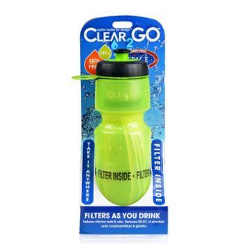 美国Clear2go户外运动水杯纳米过滤水瓶自来水直饮净水壶净水装备