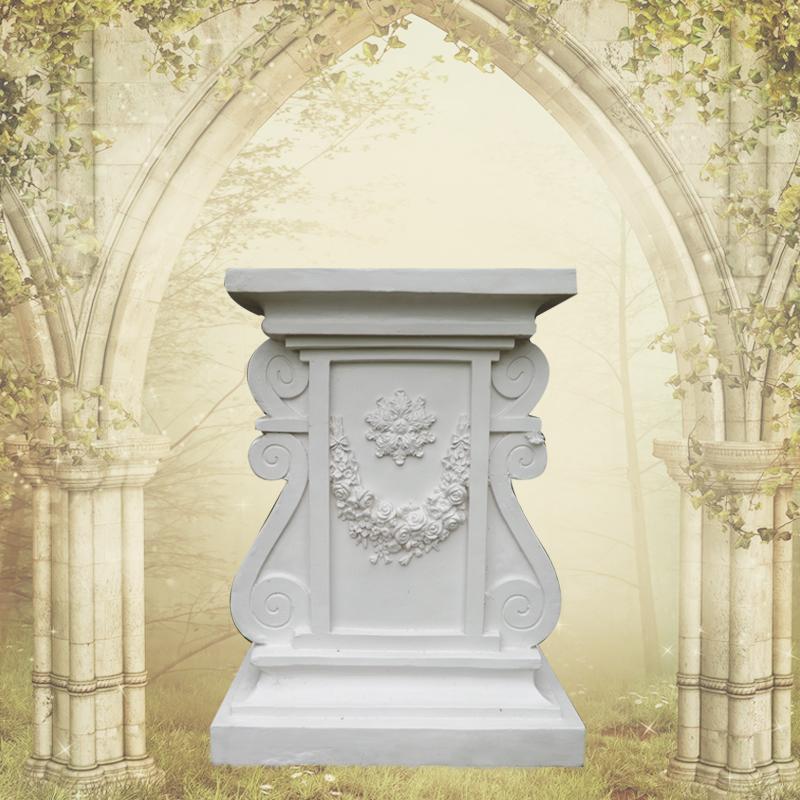 欧式花园耳形花纹柱子罗马柱园林别墅酒店咖啡厅ktv罗马柱置物架环保