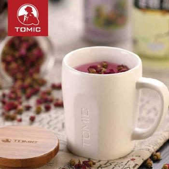 特美刻个性马克杯带盖大容量创意咖啡杯简约牛奶水杯子办公茶杯单个