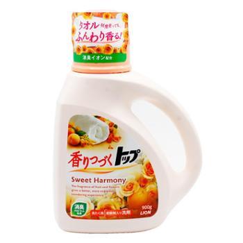 日本进口LION狮王持久香氛洗衣液900g单瓶超浓缩清洁渗透柔顺芳香