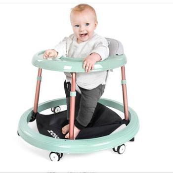 zoko婴儿学步车防侧翻多功能宝宝学步车手推车儿童学行车小孩助步车可推可骑可折叠