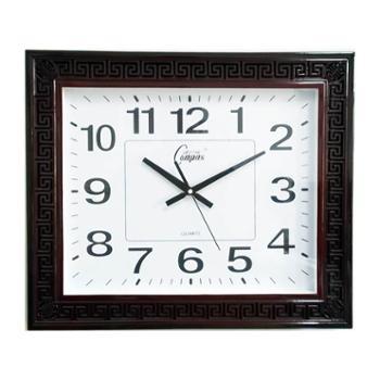 康巴丝石英钟正品包邮丽声机芯仿木古典镂空设计静音卧室客厅简约现代挂钟钟表