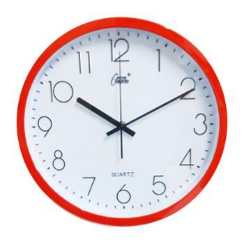 康巴丝正品石英钟丽声机芯时尚13寸静音卧室客厅简约现代挂钟钟表