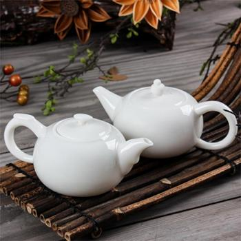 陶立方 茶壶高白瓷陶瓷劲玉瓷泡茶壶大号手工壶原矿美人壶礼品收藏 TF-5711