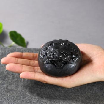 陶立方 石头茶宠茶具貔貅摆件创意手工茶玩可养功夫茶具茶盘配件TF-6006