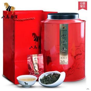 八马 茶叶 安溪铁观音 浓香型乌龙茶 小浓香新茶礼盒铁盒圆罐500g