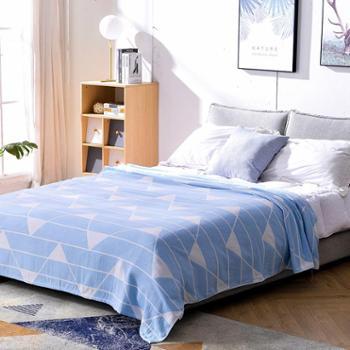 永亮 提花纯纱布纯棉毛巾被盖毯床单1.8x2米