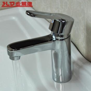 全铜龙头 面盆龙头 单孔 冷热水面盆水龙头 浴室面盆龙头