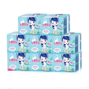 七度空间QSC6210卫生巾少女系列纯棉超薄防漏夜用10片*8包