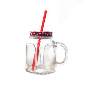 帕莎帕琦/Pasabahce 欧洲进口无铅玻璃红盖把杯80388