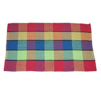 忆美特(EMIT)纯棉手工编织小地毯茶几窗台沙发垫60*90cmED-DT6090-001