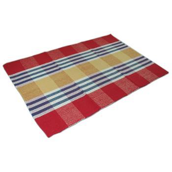 忆美特(EMIT)纯棉手工编织小地毯茶几窗台沙发垫60*90cmED-DT6090-002