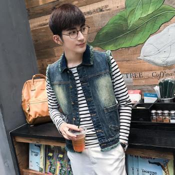 新款牛仔外套男 牛仔夹克青年学生韩版修身春夏薄款牛仔上衣服 A96