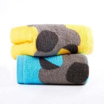洁玉定织温暖方巾JY-1708W蓝色一条装