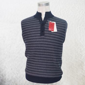 树兰男式条纹厚款羊绒衫