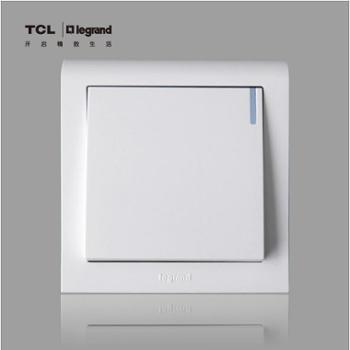 TCL罗格朗开关插座 K5系列一开双控带灯 一位双控 单级双控开关