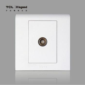 TCL罗格朗开关插座 K5系列电视插座 有线电视插座 正品插座面板