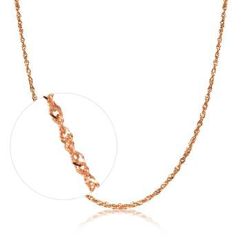 【628龙支付】周生生 18K红色黄金水波纹项链 40厘米 03818n18kr 定价
