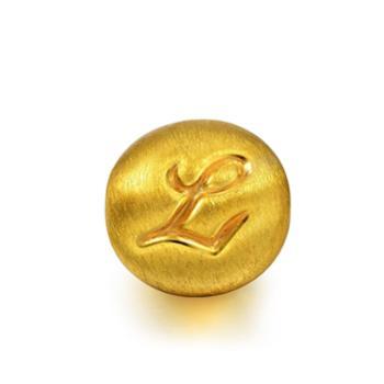 周生生 黄金(足金)Charme串珠系列转运珠字母L 87625C