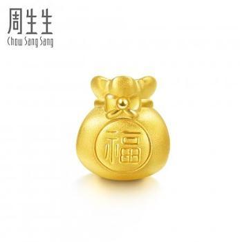 【628龙支付】周生生黄金吊坠足金Charme串珠系列福袋转运珠89197c定价