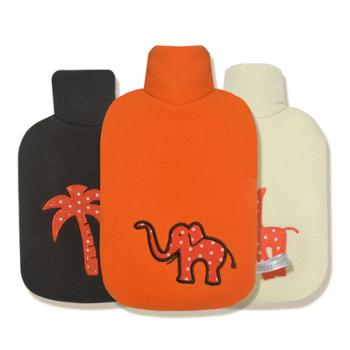 暖蛙HugoFrosch开心动物园系列热水袋橘色大象0458/深咖小猴0459/米白长颈鹿0457(三款选一)