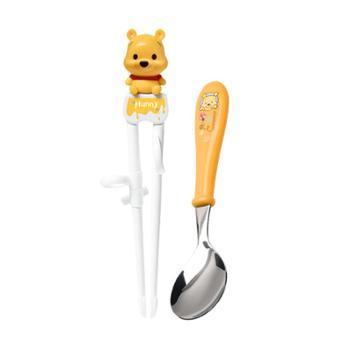爱婴小铺迪士尼萌萌维尼儿童学习筷勺子套组TKCP99002-01