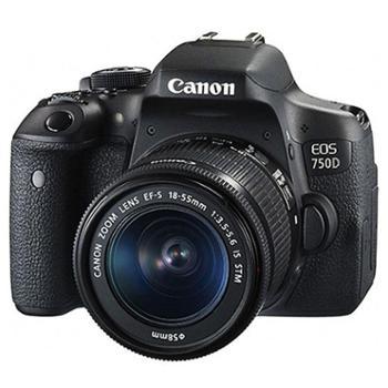 12期免息 佳能EOS 750D 单反套机(EF-S 18-55mm f/3.5-5.6 IS STM镜头)