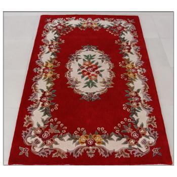 天发 加厚100%手工纯羊毛地毯/客厅 卧室 宾馆 茶几垫 定做