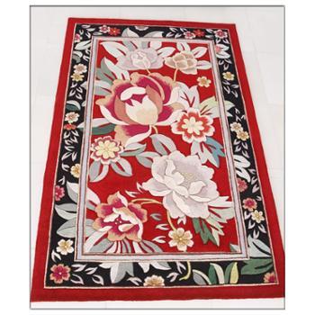 天发加厚100%手工纯羊毛地毯/客厅卧室宾馆茶几垫定做