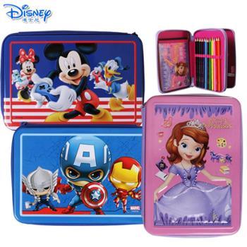 迪士尼儿童小学生绘画彩铅水彩笔礼盒DM20651