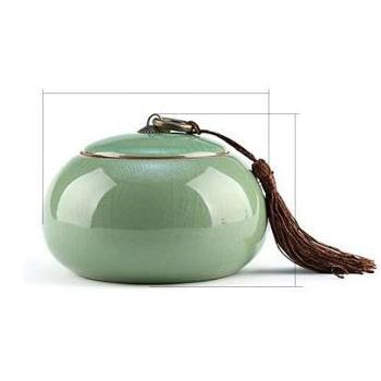 龙泉青瓷锡罐手工茶叶罐陶瓷哥窑梅子青