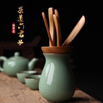 求喜哥窑梅子青龙泉青瓷茶道功夫茶具