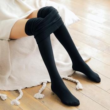 秋冬新款女士薄款拉毛打底袜外穿百搭保暖一体裤打底裤B002