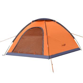 包邮慕山MSF正品户外帐篷多人3-4人单层玻架杆野营郊游橘色