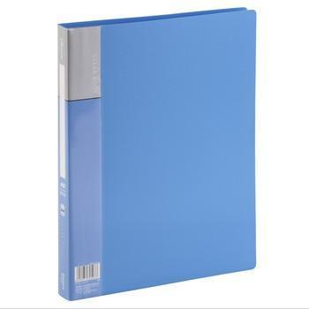 齐心(COMIX)PF40AK 资料册 A4 40袋 蓝色