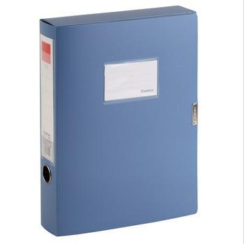 齐心(COMIX)A1249 标准型PP档案盒 A4 55mm 蓝色