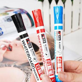 金万年 K-0607 白板笔 可加墨水 优质可擦的白板笔办公用品 一盒装十支