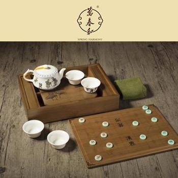 万春和乐在棋中茶具