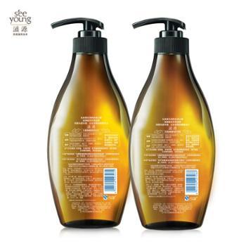 滋源无硅油生姜洗发水535ml+护发素套装535ml(油性)强根建发滋养