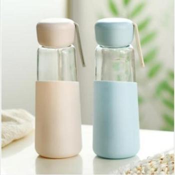 韩国玻璃杯创意潮流水杯 商务耐热玻璃水杯便携泡茶杯