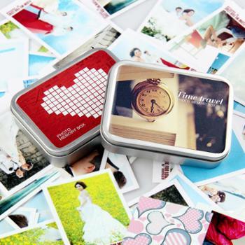 就是要印半岛铁盒36张个性创意照片卡片铁盒包装首饰盒收纳盒