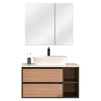 JOMOO九牧浴室柜组合悬挂式洗脸盆洗手盆北欧简约台上盆洗漱台A2275