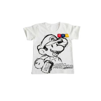 优乐小猪新款童装童装t恤纯棉t恤男童童装玛丽奥短t