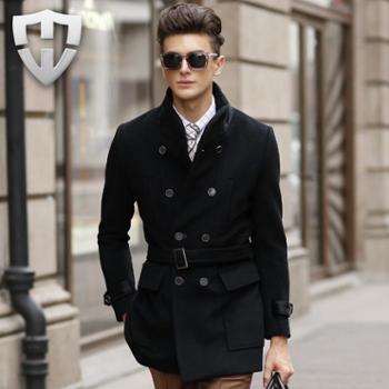 秋冬新款加厚纯羊毛呢西服男士潮痞西装呢外套