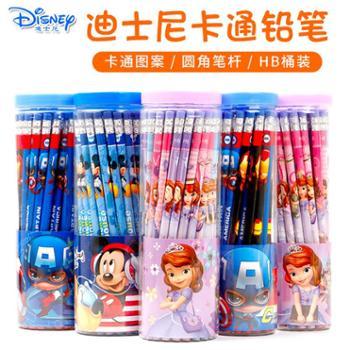 迪士尼儿童橡皮头HB铅笔30支桶装