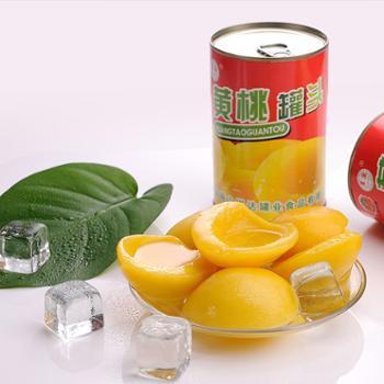 多国红罐黄桃罐头425g*12罐