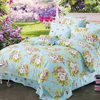 富安娜家纺圣之花物语芳香床品四件套婚庆床上用品床单被套四件套床单被罩枕套