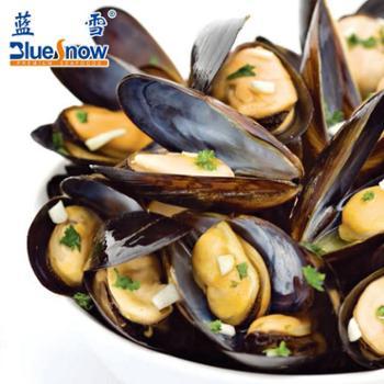 【蓝雪】智利进口蒜香味紫贻贝450g冷冻水产淡菜