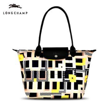 Longchamp厚款尼龙包长柄2605#X